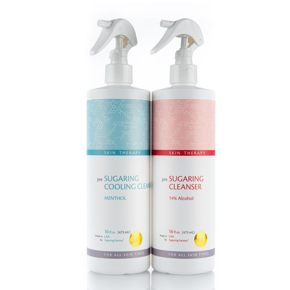 SET of TWO PRE SUGARING CLEANSERs