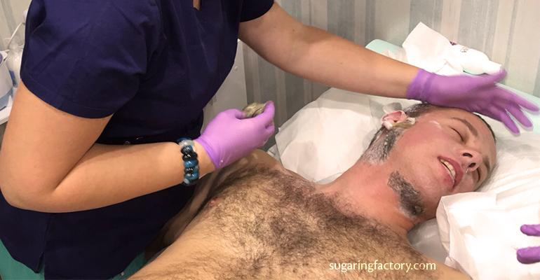 Men's hair removal or The man in an Iron Mask