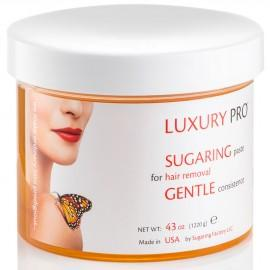 SUGARING PASTE LUXURY GENTLE (delicate paste for thin light hair) - 43 oz / 2.6 lbs