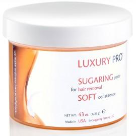 SUGARING PASTE LUXURY SOFT (very smooth paste for thin hair) - 43 oz / 2.6 lbs